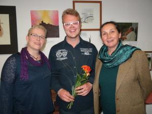 Stadtverordnete im A4: Michelle Petroll, Vorsitzender Dominik Rabe und Dr. Hildegard Bossmann, Foto: Frank Müller